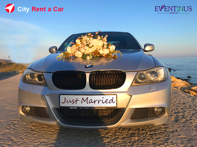 City Rent A Car for Wedding Decoration BMW
