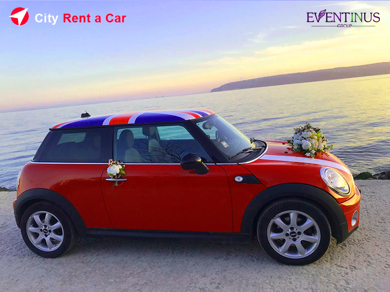 Rent Mini Cooper for Wedding Golden Sands