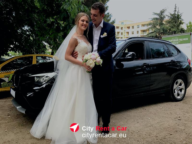 Кола BMW под наем за сватба Варна