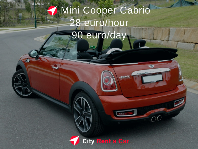 Rent a car for wedding Varna Mini Cooper Cabrio