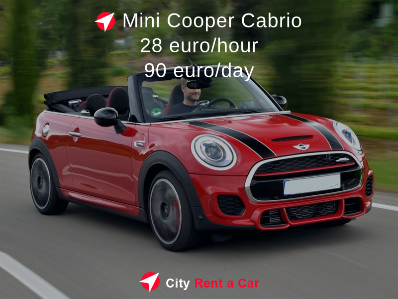 Rent a car for wedding Varna Mini Cooper Cabrio Golden Sands