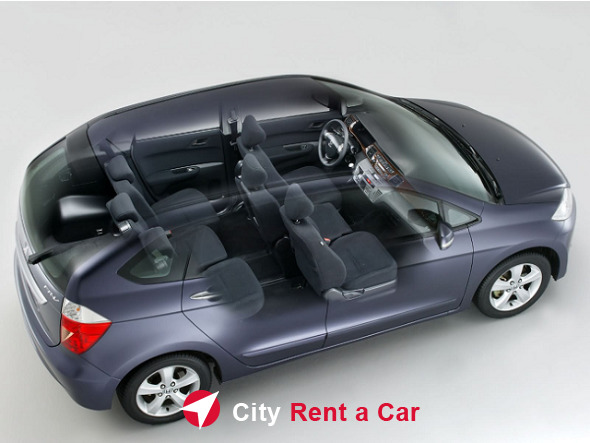 rent a car 6 seats varna honda frv salon